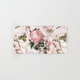 Vintage & Shabby Chic - Sepia Pink Roses  Hand & Bath Towel