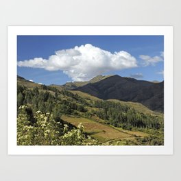 high mountains peru Art Print