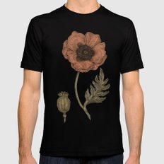 Poppy SMALL Mens Fitted Tee Black