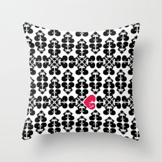 Skullz and Lace Throw Pillow