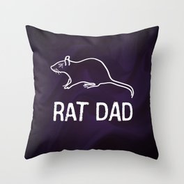 Corvo: Rat Dad Throw Pillow