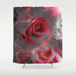 The Pink Flowers of That Majestic Dream! Shower Curtain