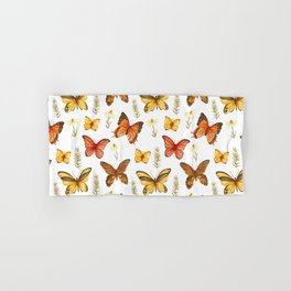 Butterfly Totem White Background Hand & Bath Towel