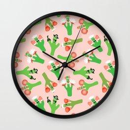 Cacti Crazi Wall Clock