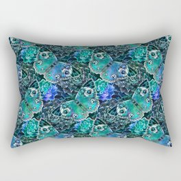 Butterflies In Blue Rectangular Pillow