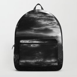 Here Comes The Sun - Black And White Backpack