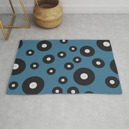 Blue Vinyl Record  Rug