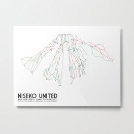 Niseko United, Japan - Japan Edition - Minimalist Trail Art Metal Print