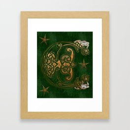 Hunter and Gold Celtic Framed Art Print