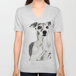 Greyhound Family Dog Unisex V-Neck