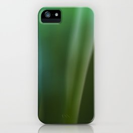 Vintage looking homemade photo of green grass. iPhone Case