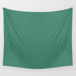 Viridian Green Solid Color Wall Tapestry