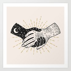 Hold On Art Print