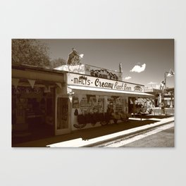Route 66 - Snow Cap Drive-In 2012 Canvas Print