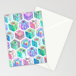 Christmas Gift Hexagons Stationery Cards