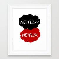 netflix Framed Art Prints featuring Netflix Netflix by Goes4