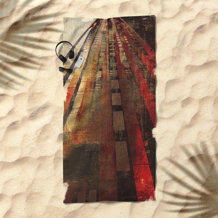 Underground Path Beach Towel