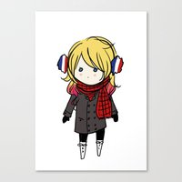 enjolras Canvas Prints featuring winter enjolras by The Eggplant Market