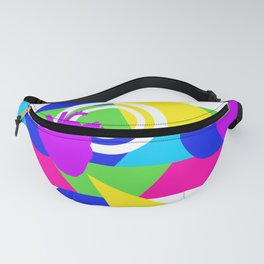 80s colorblock heart Fanny Pack