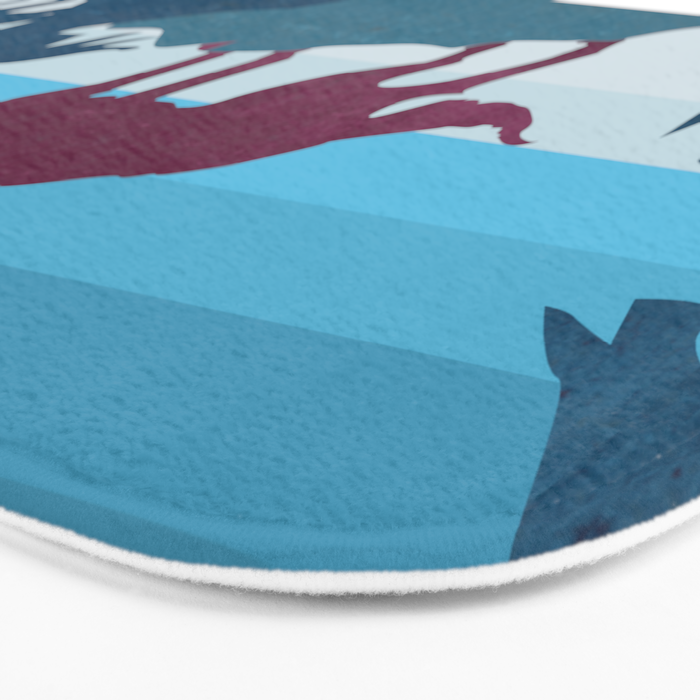 Wolf in the woods Bath Mat