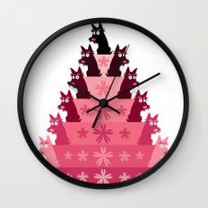 Crimson Groovy cake Wall Clock