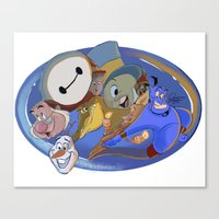 cartoons Canvas Prints featuring cartoons 92 anniversary  by Amit Naftali