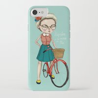 hipster iPhone & iPod Cases featuring Hipster by Maripili