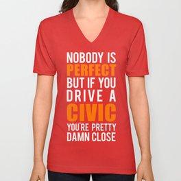 Honda Civic  Unisex V-Neck
