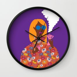 Morning Coffee Girl // Everyday moments Wall Clock