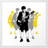 acdc Art Prints featuring Taking The Lead by Alan Hogan