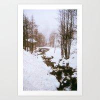 fairy tale Art Prints featuring Fairy tale. by Carola Ferrero