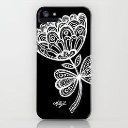 White Flower 92 iPhone Case
