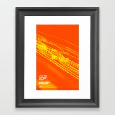 The Love Series 200 Orange Framed Art Print