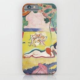 Matisse le Bonheur de Vivre (The Joy of Life) by Henri Matisse iPhone Case