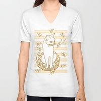 friendship V-neck T-shirts featuring Friendship by Sarinya  Withaya