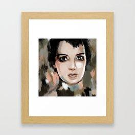 Winona Ryder Framed Art Print