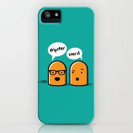 Hipster Nerd iPhone Case