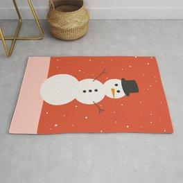 Christmas Snowman Rug