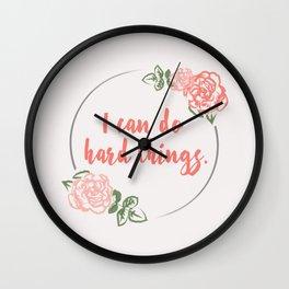 I Can Do Hard Things Wall Clock