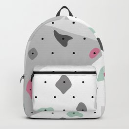 Abstract geometric climbing gym boulders pink mint Backpack