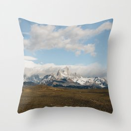Iconic Towers of Patagonia Throw Pillow