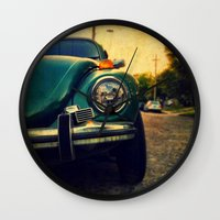beetle Wall Clocks featuring Beetle by Melissa Lund