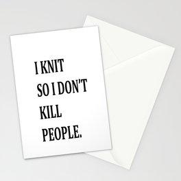 I KNIT. Stationery Cards