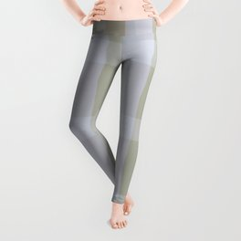 Green Gray Arches And Squares Mid-Century Modern Watercolor Pattern Leggings