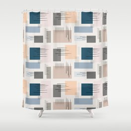 Wandering pastels Shower Curtain