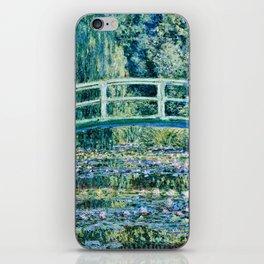 Claude Monet - Water Lilies And Japanese Bridge iPhone Skin