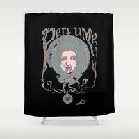 perfume Shower Curtains featuring Psychedelic Perfume by Paul Bridgeman