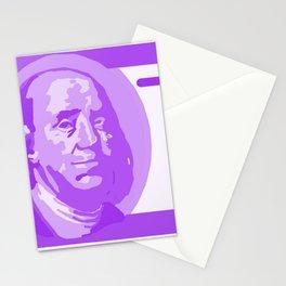 BIG PURPLE 100 DOLLAR BILL BEN FRANKLIN $$$ Stationery Cards