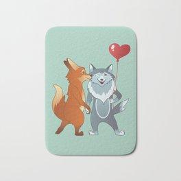 Fox And Wolf Bath Mat
