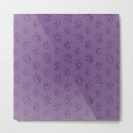 Cute and nice fruits and berry pattern with raspberry Metal Print